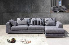 Modern fabric L shape lounge