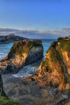 The House in the Sea, Newquay, Cornwall. A lot of amazing seaside cottages/houses are available for rentals to tourists.