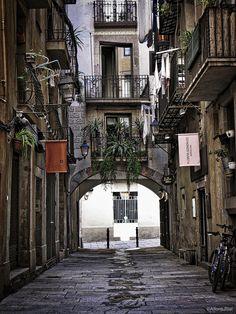 La Rivera district of Barcelona, Catalonia
