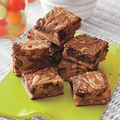 Nutella-Swirl Blondies | MyRecipes.com1 1/2 cups packed light brown sugar   16 tablespoons (2 sticks) unsalted butter, cut into small pieces   2 large eggs plus 1 large yolk $          1 teaspoon vanilla extract   2 1/4 cups all-purpose flour   1/2 teaspoon baking powder   1/4 teaspoon salt   1 1/2 cups butterscotch chips   4 ounces cream cheese, at room temperature   3/4 cup Nutella $