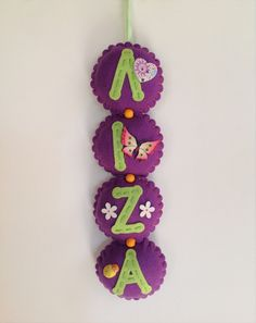 Custom name banner for Liza! :) For more, please visit my Etsy Shop at www.etsy.com/shop/FeltedFairyDreams!