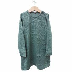 Herringbone bluegreen dress - lötiekids