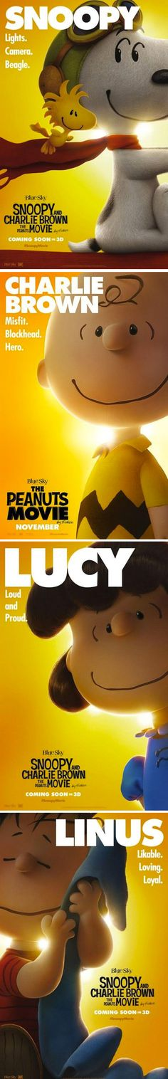 movie poster set | Snoopy and Charlie Brown: The Peanuts Movie / 11.06.15
