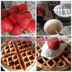 when you got some bigass strawberries... you make some #bigasswaffle (strawberry and cream waffles) - 1 scoop or serving of your favorite Quest protein powder (today I used strawberries and cream )1/4 cup of Kodiak power cakes mix 3 tbsp liquid egg white 2/3 cup of cold waterI added some fresh cut strawberries to the mix and topped mine with some cool whip free for a whopping 5sp protein packed punch in the face #questprotien #kodiakcakes #kitchengangsta #wedonteatnostinkingdietfood…