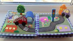 Очередная книжка для мальчика. Повтор полностью одной из моих предыдущих книжек Далее много фото Diy Sewing Projects, Projects For Kids, Diy And Crafts, Crafts For Kids, Baby Quiet Book, Sensory Book, Felt Quiet Books, Montessori Materials, Books For Boys