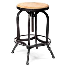Weathered Oak Adjustable Bar Stool - Please note: This item is not intended for…