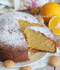 torta arancia e amaretti soffice e golosa con Bimby e senza #torta Italian Cake, Biscotti, Afternoon Snacks, Allrecipes, Cornbread, Vanilla Cake, Sweet Recipes, Tea Time, Deserts