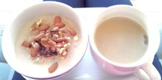 Oat Porridge with cinnamon and mixed nuts
