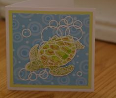 Sea Turtle Leaving Bubbles in its Path by mayodino - Cards and Paper Crafts at Splitcoaststampers **Local King stamp, MB loopy rings?**