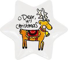 Hapjes serveren met dit leuke stervormige kerst schaaltje? Maak je kersttafel compleet met dit schaatlje Rendier van Blond-Amsterdam.
