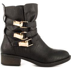 JustFab Women's Axelia - Black ($46) ❤ liked on Polyvore