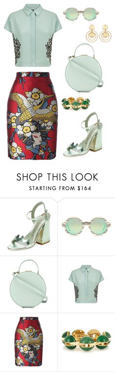 """""""Mint Chocolate Chip"""" by refinedtouch ❤ liked on Polyvore featuring Ivy Kirzhner, Illesteva, Tammy & Benjamin, Jaeger, Dsquared2, Chloé and Kenneth Jay Lane"""