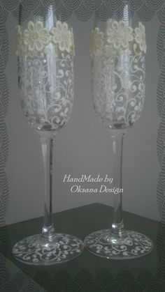 Lace Wedding glasses by ToujourGlamour on Etsy
