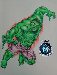 My handmade version of this great green character! Green Characters, Fictional Characters, My Drawings, Joker, Superhero, Handmade, Student Discounts, Green, Artists