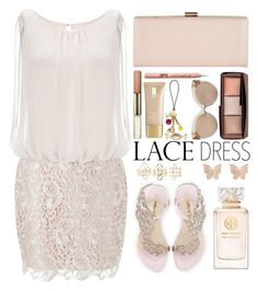 Style #.515 by simona-altobelli on Polyvore featuring polyvore fashion style Aidan Mattox Sophia Webster Phase Eight Latelita Charlotte Russe Linda Farrow Hourglass Cosmetics Tory Burch Lauren Conrad clothing MyStyle lacedress polyvorecontest