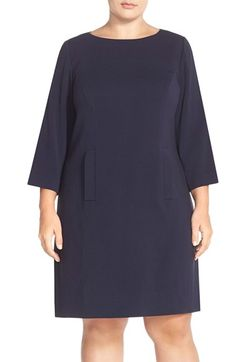 Free shipping and returns on Eliza J Pocket Detail Shift Dress (Plus Size) at Nordstrom.com. Besom pockets front and center add a fun touch to a polished shift fitted with princess seams and back darts for a flattering, nipped silhouette.