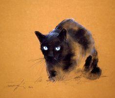 "November's Singular Pastels: Béla Tarcsay, ""George,"" pastel on paper, 13 3/4 x 19 3/4 in (35 x 50 cm)"