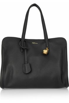 WANT! - Alexander McQueen padlock large textured-leather tote