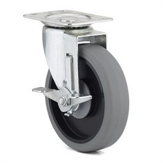 Richelieu F25 Industrial Gray Thermoplastic Rubber Swivel Caster