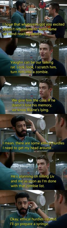 """#iZombie 2x17 """"Reflections of the Way Liv Used to Be"""" - Ravi and Major"""