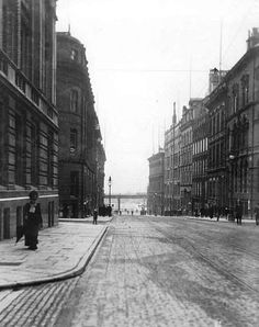Water Street, (formerly Bank Street) Liverpool 1901 ~ one of the original seven streets of Liverpool