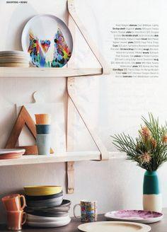 Inside Out Jan/Feb 2014 - Dinosaur Designs Modern Tribal art-range vase