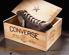 Nearing bankruptcy, Converse came to us to help them revive their flagging and once beloved brand. Our solution was to differentiate them from all of their competitors by uniting their product heritage (as the first basketball shoe) with their iconic counter-culture brand credentials. We created a new identity, and applied it to their business papers, packaging, and environmental systems. We adopted several elements from the ubiquitous All-Star shoes as brand icons, including the rubber sole…