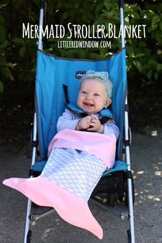 3bfd04411fc Sew an adorable Mermaid Stroller Blanket for your baby!