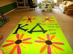 Super cute bid day idea!
