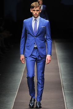 Cobalt suiting will never lose trend. Jackets in store now.