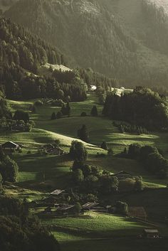So peaceful.    This photo was taken on August 5, 2011 in Abondance, Rhone-Alpes, France.     by Alvarictus, via Flickr