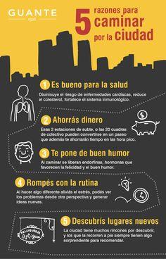 5 razones para caminar por la ciudad.