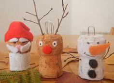 Personaggi natalizi con tappi di sughero