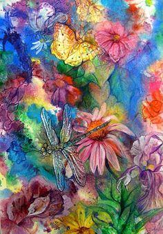 texture art-Original Ukraine Watercolor