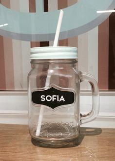 Vaso cristal personalizado.