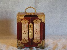 Rosewood Jewelry Box  Chinese Three Drawer by SandECollectibles, $74.95