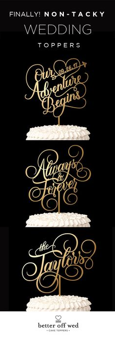 Our cake topper is the most special thing we've purchased for our wedding so far! www.betteroffwed.co