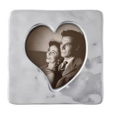 mariposa small open heart frame, picture frame, photo frame, hearts, valentine's day, valentines day, love, romance, silver, aluminum