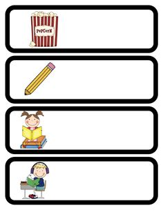 A TON of adorable schedule cards! and FREE