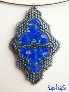 The Blues Pendant Tutorial - FREE for personal use  lses the briolettes that are hard to find dirs for
