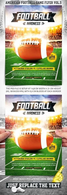 Football Flyer Fonts, Event flyers and Font logo