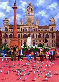 Jennifer Thomson - Feeding the Pigeons George Square