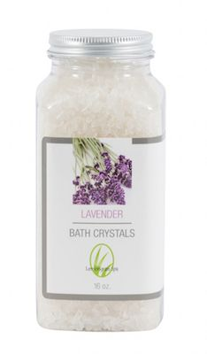 Luxurious bath salts enhanced with Vitamin E and essential oil dissolve quickly in your bathtub to moisturize skin. 16 oz. clear plastic shatterproof bottle. Buy any two crystals for $20!  Price will automatically adjust upon checkout.  Ingredients: (Sodium Chloride) Rock Salt, (Tocopherol) Vitamin E Oil, and (Lavandula Officinalis) Lavender Essential Oil.