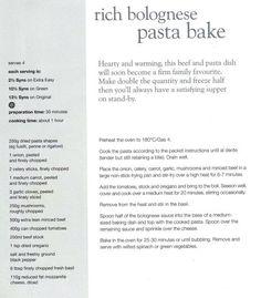 Rich Bolognese Pasta Bake:)