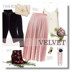 """Velvet 2016"" by sheryl-lee ❤ liked on Polyvore featuring La Perla, Topshop, Marc Jacobs, Aquazzura, Lancôme, Love Moschino, Chanel and Michael Kors"