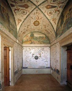Italy, Villa Pojana, interior / photoPoiana Maggiore (Vénétie, Italie), Villa Poiana (constr. 1548/49–1563 pour Bonifacio Poiana ; arch. : Andrea Palladio). Fresques de Bernardino India et Anselmo Canera).