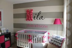 girls modern baby nursery, diy nursery wall art is part of Baby girl room - girls modern baby nursery, diy nursery wall art SmallNursery DIY Nursery Room, Girl Nursery, Girls Bedroom, Nursery Ideas, Room Baby, Nursery Decor, Nursery Grey, Wall Decor, Baby Rooms