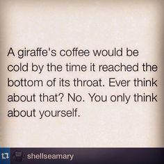 Giraffe's coffee
