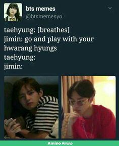 V's face got me dead!  //BTS- lmao, Jimin is done