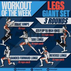 Finish off the week strong with this giant set leg workout! Leg extensions can be a great mass builder, as well as somewhat of a detail movement. I attribute a lot of my quad detail and shape to leg extensions. From not using enough weight, to only doing Leg Day Workouts, Weight Training Workouts, At Home Workouts, Leg Exercises, Mass Builder, Leg Training, Side Lunges, Jump Squats, Do Exercise